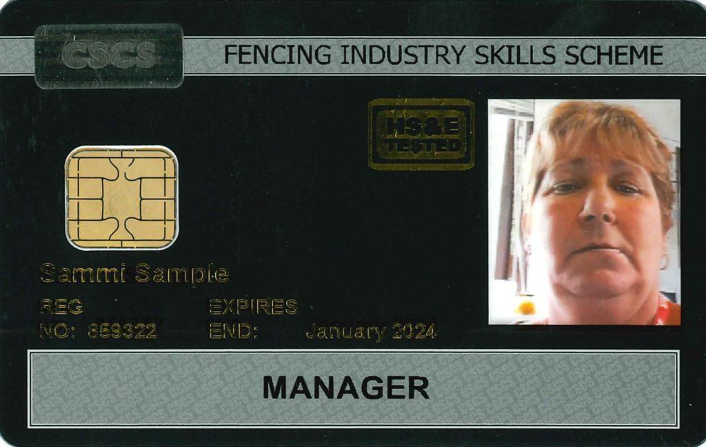 Black FISS CSCS Card