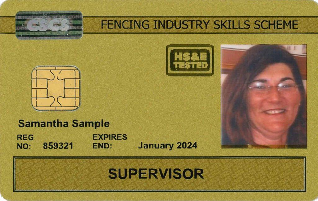 Gold FISS CSCS Card