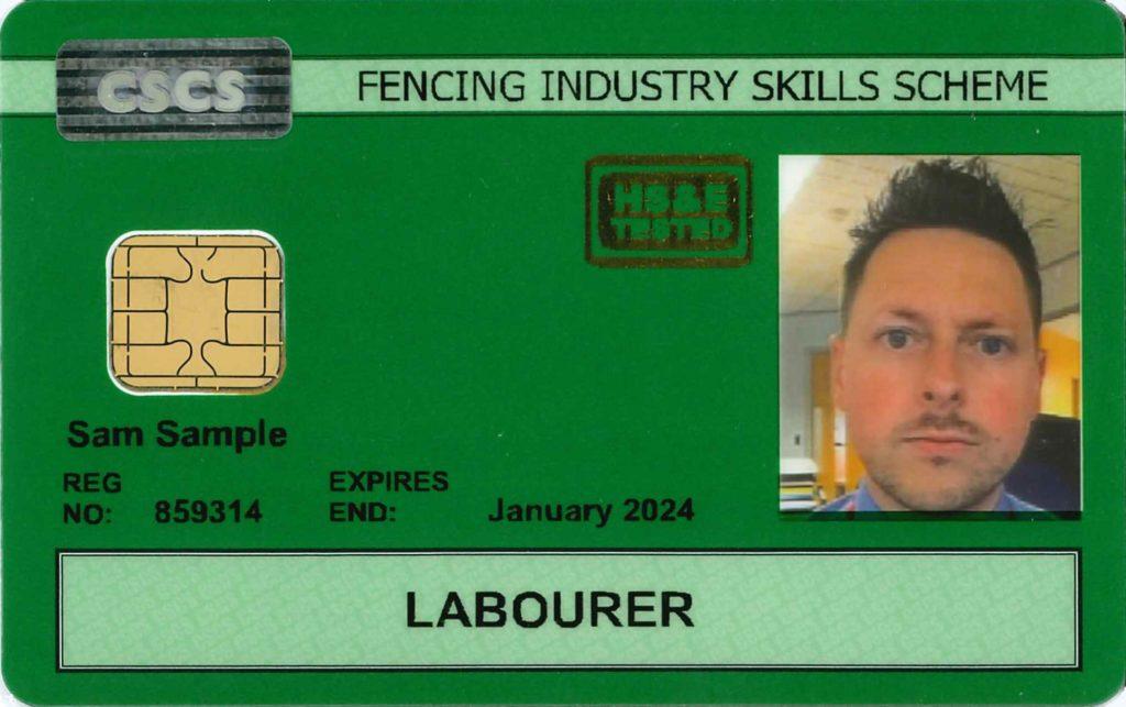 Green FISS CSCS Card