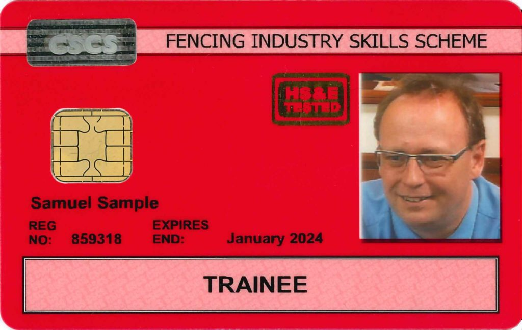 Red FISS CSCS Card